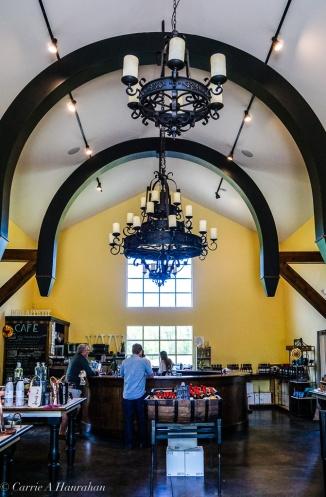 Stunning interior in the tasting room